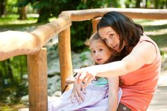 Look there - mother with child Royalty Free Stock Photos