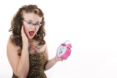 Look at the Time! Royalty Free Stock Photo