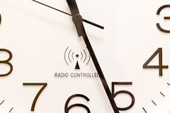 Look at the time. Detail of a radio clock Royalty Free Stock Photos