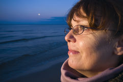 Look to the baltic sea by night Royalty Free Stock Photo
