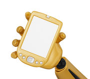 Look to the gold pda Royalty Free Stock Photo