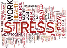 Look To Mother Nature To Reduce Stress On The Job Text Background  Word Cloud Concept Royalty Free Stock Photography