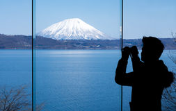 Look to Yotei mountain or Little Mt.Fuji of Hokkaido Stock Images
