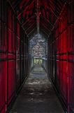 Look Trough in red. A lookthroug in the daybunker of a blast furnace in germany Royalty Free Stock Photos