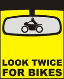 Look twice for bikes Stock Images