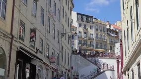 A look at typical architecture in Lisbon. Typical scene for visitors to Lisbon Portugal stock footage