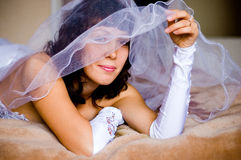 Look from under veil Stock Photo