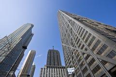 Look Up. Skyscrapers in Chicago stock image