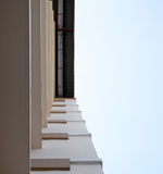 Look up at apartment housing in Thailand. Step of building. Stock Image