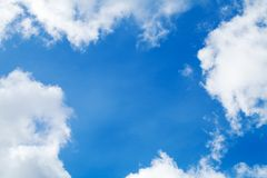 Look up in blue sky. natural background photo Stock Photos