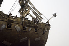 Look up the pirate ship and the pirate landscape Stock Photos
