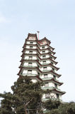 Look up to Chinese tower Stock Photography