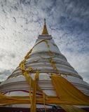 Look up to. Pagoda at Tang Kuan Mountain of Songklha Province, Thailand royalty free stock photography
