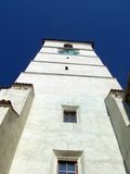 Look up on a tower. View on a tower, conceptual meaning of verticality, consolidation Royalty Free Stock Photos