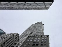 Look-Up view of New York skyscrapers royalty free stock photo