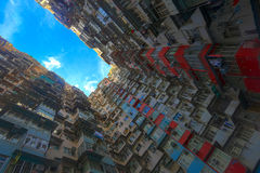 A look up view of Quarry Bay in Hong Kong,China. Stock Photography