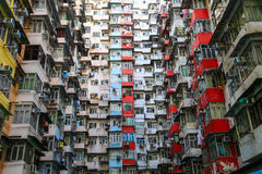 A look up view of Quarry Bay in Hong Kong,China. Stock Photos