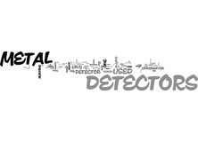 A Look At Used Metal Detectorsword Cloud. A LOOK AT USED METAL DETECTORS TEXT WORD CLOUD CONCEPT Royalty Free Stock Image