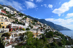 A Look at the Village of Positano in Italy Stock Photography