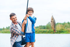 Look what we caught! Stock Photography