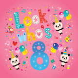 Look who`s eight - 8th birthday card Royalty Free Stock Photography