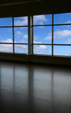 Look through a window. And blue sky Royalty Free Stock Photo