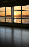 Look through a window. And sunset Royalty Free Stock Photography