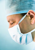 Look of working surgeon Stock Image