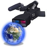 Look at world in 3d Stock Photography
