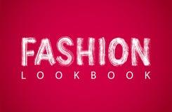 Lookbook text logo. Vector illustration isolated on white background. Royalty Free Stock Image