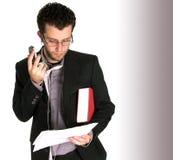 Lookin novo ocupado do homem de negócio Imagens de Stock Royalty Free