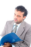 Looking. Man reading or studing documents Royalty Free Stock Images