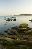 Looking across a bay to Ribeirra Royalty Free Stock Images
