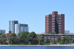 The Charles River, Boston, MA stock image
