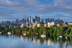 Looking across Cremorne to the city of Sydney Stock Photo