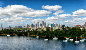 Looking across Cremorne to the city of Sydney Royalty Free Stock Photo