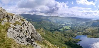 Looking across Easedale Tarn to Grasmere Royalty Free Stock Image