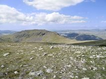 Looking across Fairfield to Grey Friar, Lake District Royalty Free Stock Image