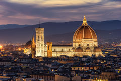 Looking across Florence to the Duomo in Florence Stock Photos