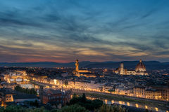 Looking across Florence to the Ponte Vecchio Stock Photography