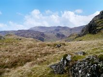 Looking across Great Langdale from near Blea Rigg Royalty Free Stock Photo