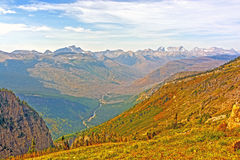 Looking Across a Mountain Valley on a Fall Day Stock Images