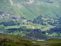 Looking across Patterdale area to hamlet of Rooking Stock Photo