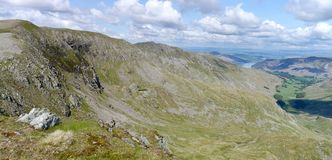 Looking across Ruthwaite Cove to Nethermost Pike area Royalty Free Stock Photos