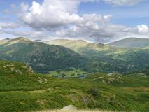 Looking across Rydal Water from Loughrigg Fell Royalty Free Stock Image