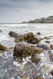 Looking across the sea to Coverack Stock Photo