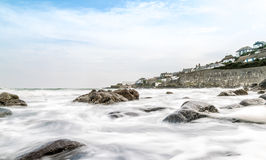 Looking across the sea to Coverack Stock Image