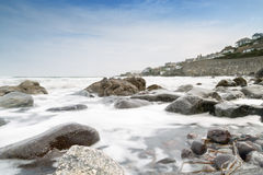 Looking across the sea to Coverack Royalty Free Stock Photo