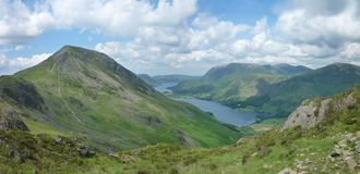 Looking across to High Crag and over Buttermere Stock Image