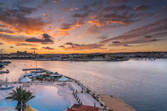 Looking across Valletta to Marsamxett Harbour Royalty Free Stock Photography